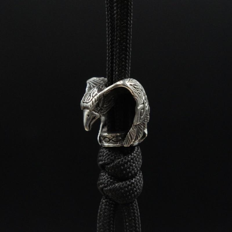 Brass Eagle Knife Pendant Copper Eagle Knife Pendant DIY Handmade Umbrella Rope Fall EDC Flashlight Falling Key Paracord Beads in Knives from Tools