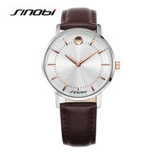 Sinobi relógios de pulso dos homens pulseira de couro marca de luxo masculina gents relógio de genebra relógio de quartzo relógios de pulso de negócios 2017 meninos k65