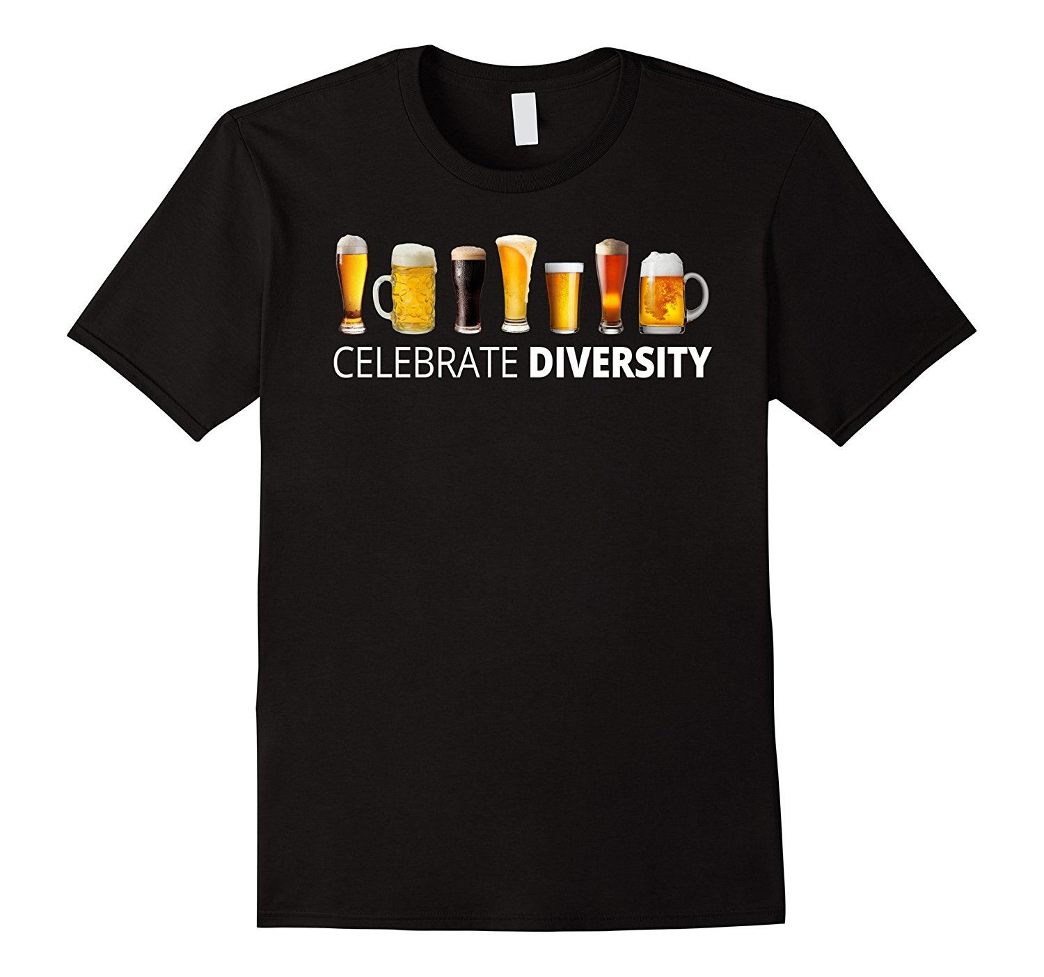 Celebrate Beer Diversity Funny Drinking T-shirt High Quality Custom Printed Tops Hipster Tees T Shirt Mens Short Sleeve Tees