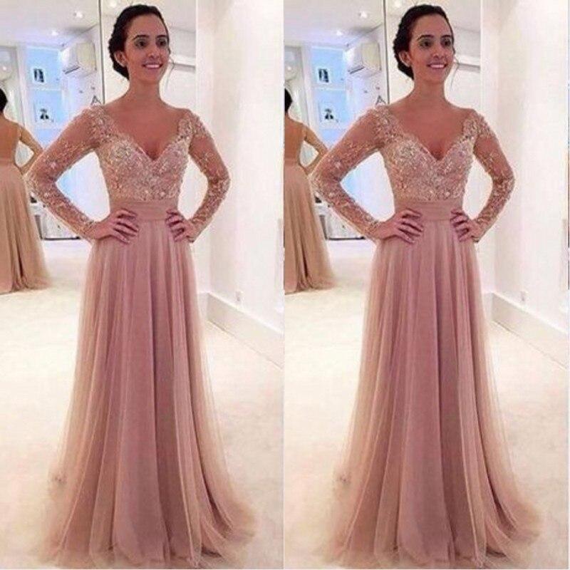 Beautiful Prom Gown A Line Dress to Party Kleider Feestjurken Bayan ...