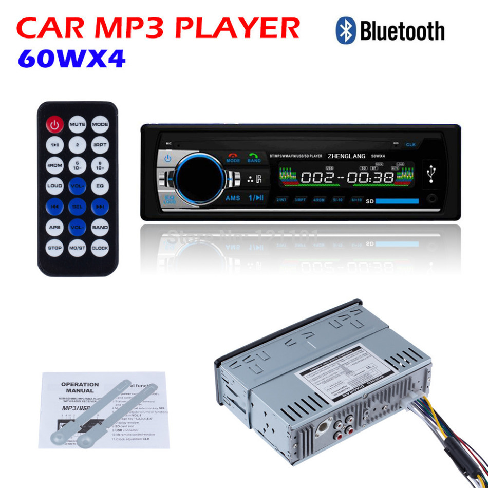 Car Radio 12V Bluetooth V2 0 Car Audio In dash 1 Din FM Aux Input Receiver