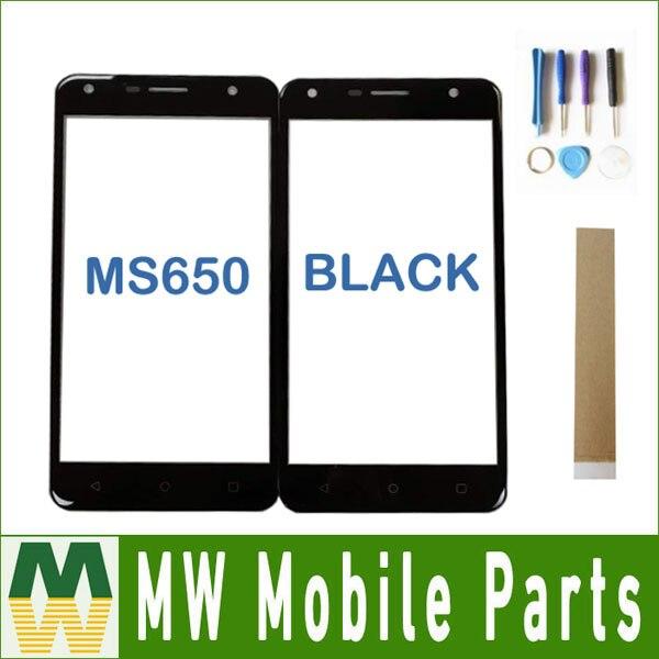 1 teil/los 5,0 zoll Für DEXP Ixion MS650 Eisen Pro MS 650 Touchscreen Digitizer Front Glas Objektiv Sensor Panel schwarz Farbe Mit Band