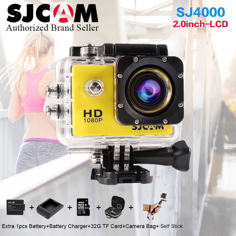 Original SJCAM SJ4000 2.0Action Video Camera Waterproof 30m Diving SJ CAM 4000 Basic Sport DV 1080P Full HD Mini Helmet Camcord sj4000 wifi full hd 1080p camera sport 2 0 lcd sj 4000 helmet cam go waterproof camera pro style sport dv mini camera sport
