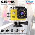 Original SJCAM SJ4000 SJ 2.0 Câmera de Vídeo de Ação À Prova D' Água 30 m Mergulho CAM 4000 Básica Esporte DV 1080 P Full HD Capacete Mini Camcord
