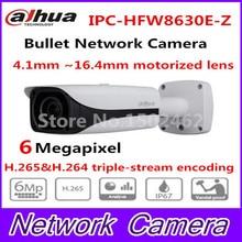 Бесплатная Доставка DAHUA IP Security Камера 6MP FULL HD ИК Пуля Сетевая Камера IP67 IK10 С POE Без Логотипа IPC-HFW8630E-Z