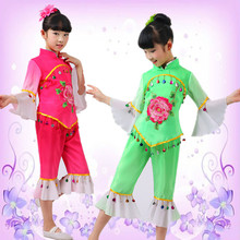 Children Dancing Costume Yangko Dancing Suit Chinese Girl Dancing Wear Stage Costume
