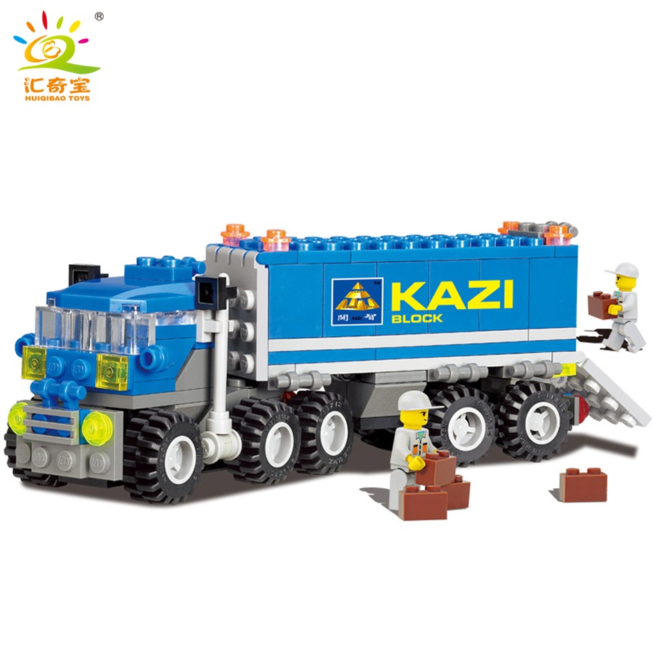 163+pcs City Dumper Truck Building Blocks Set Model Compatible Legoe City DIY Construction Bricks Play Mobiled Toys For Children 1120 enlighten city happy journey truck camping car model building blocks diy action figure toys for children compatible legoe