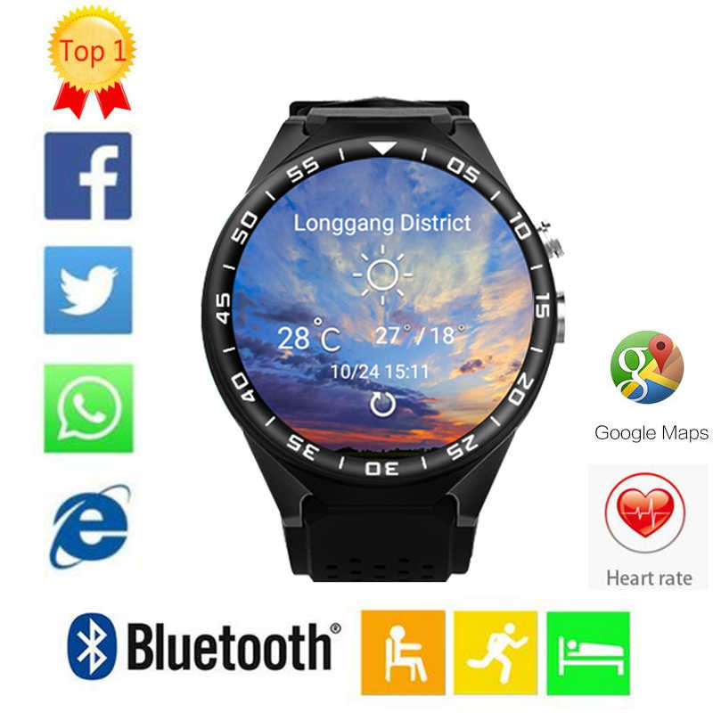 "S99C KW88 PRO Smart Watch Android 5.1 OS 2GB Ram 16GB Rom 2.0 MP MTK6580 Quad Core 3G GPS Wristwatch 1.39"" Heart Rate Pedometer"