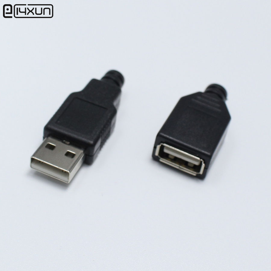 5pairs DIY Micro USB Type A Welding Type Male Female Plug