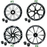 Motorcycle 18 21 23 26 inch Front Wheel Rim Dual Disc with Hub For Harley Touring Road King Electra Street Glide 2008 2019