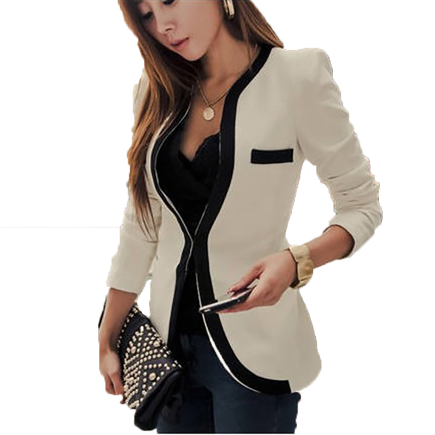Fashion   Jacket   Women Black Chaqueta Mujer   Basic     Jackets   2018 Harajuku Jaqueta Feminina Casaco Feminino Office Slim Coat Women