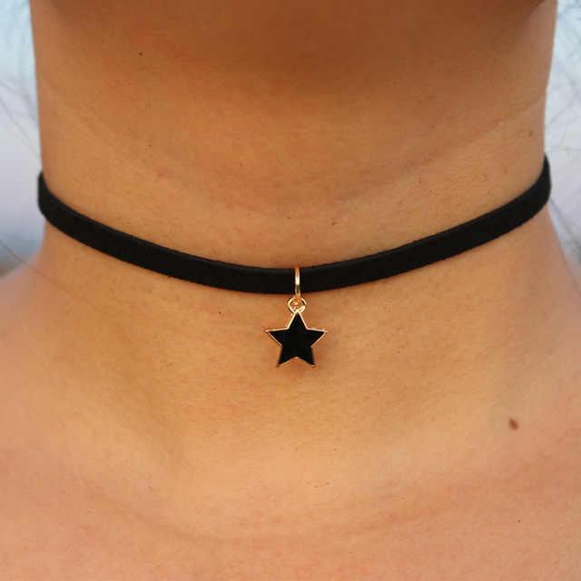 Neue Gothic Choker Halsketten Männer Star Herz Krone Frieden Frauen Schlüsselbein Mode Schmuck Bijoux Colier Halskette Parfüm Flasche NEUE