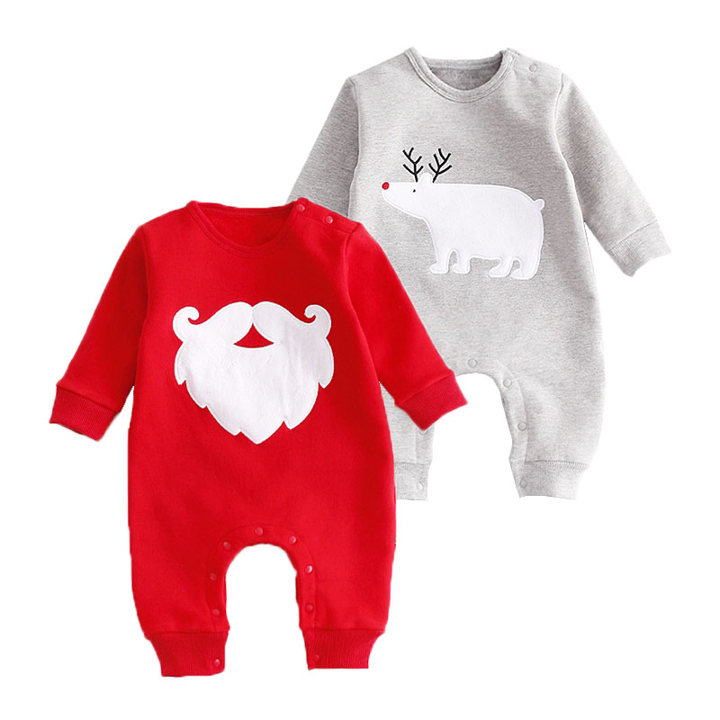 Christmas Baby Rompers Santa Clause Bears Overalls Infant