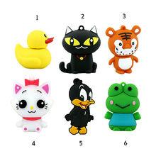 mini pen drive cartoon frog duck gift pen drive 8gb 16gb 32gb 64gb keychain cartoon tiger
