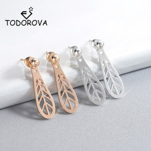 Todorova Trendy Geometric Earrings Ear Jackets Stud for Women Elegant Front Back Two Sides Fashion Jewelry