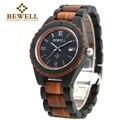 Bewell madera reloj de 2016 nuevos hombres de la llegada hombres de cuarzo calendario Reloj de la Marca de Lujo de Los Hombres de madera s Deporte Relojes Montre Homme 128A