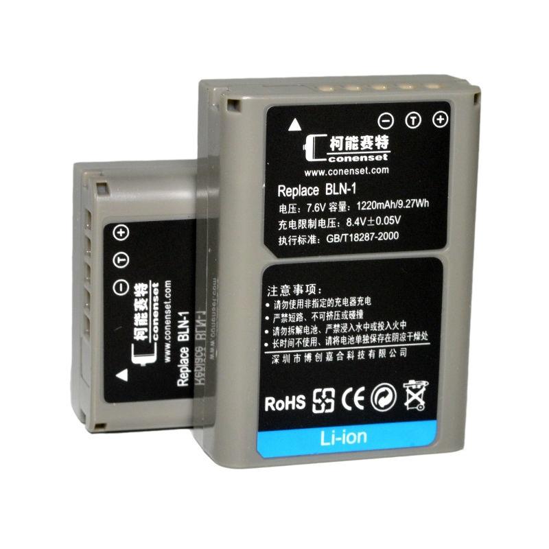 CONENSET 2pc BLN 1 BLN1 Li ion Battery for Olympus E M1 E P5 EP5 E