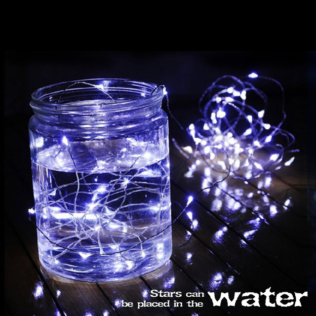 led christmas light for indoor xmas tree outdoor waterproof led string lights 2m 5m cooper wire