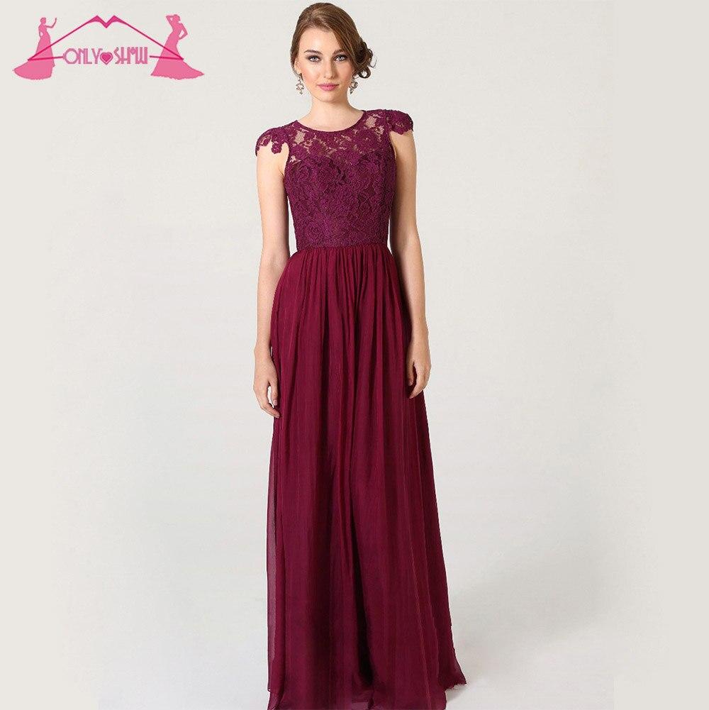 Vestidos Para Damas Honor Color Vino