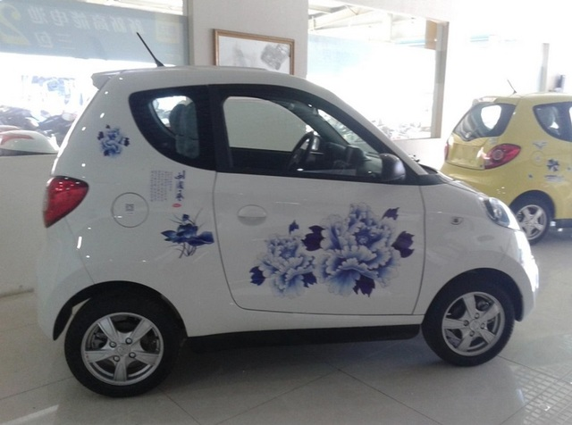 Online Shop Blue And White Porcelain Car Stickers CarStyling - Cars decal maker online