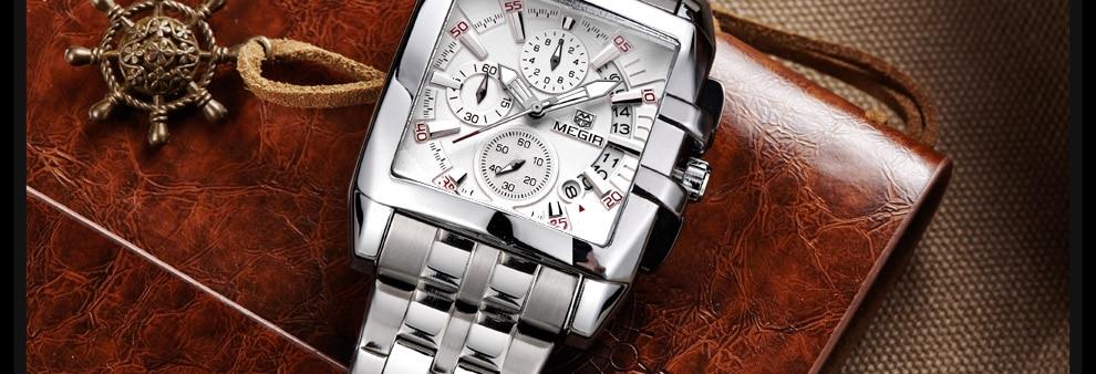 2018-En_23  MEGIR Males's Large Dial Luxurious Prime Model Quartz Wristwatches Artistic Enterprise Stainless Metal Sports activities Watches Males Relogio Masculino HTB1WKI9DaSWBuNjSsrbq6y0mVXav