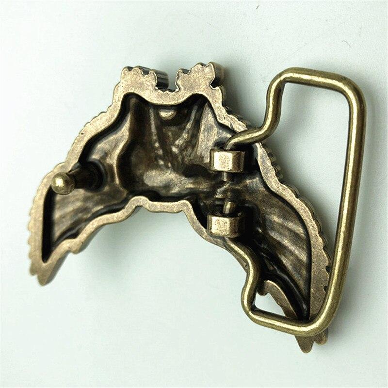 Pure Copper Vintage Antique Belt Buckle Eagle Western Cowboy Mens Fashion Fine Accessory