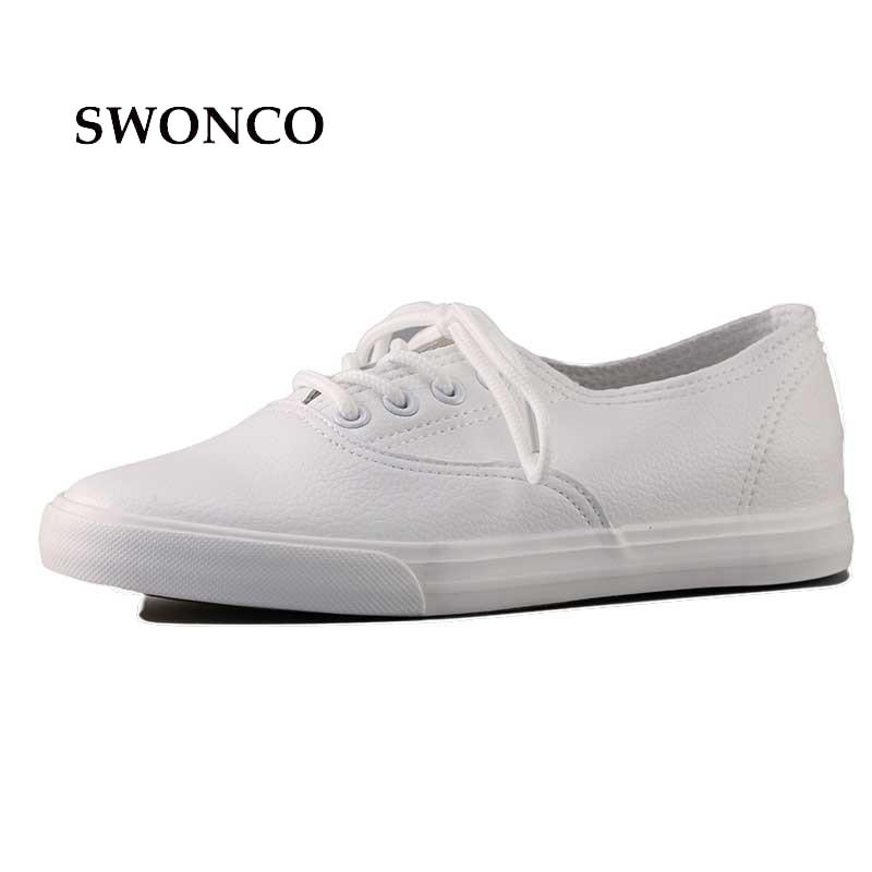 Moda mujer zapatos de cuero genuino bajo transpirable mujeres zapatos planos de color sólido ocio negro blanco zapatos de tela de ocio 36-40