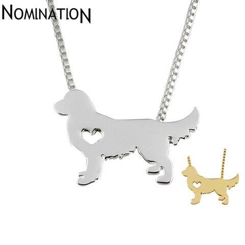 Золотистый ретривер ожерелье собака кулон ювелирные изделия