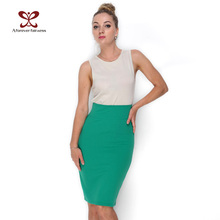 A Forever 2017 Hot Sales Women Skirt Pencil Skirt With High Waist Tight Office Skirt Fashion Slim Casual Package Hip Skirt 662