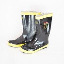 Высокие термостойкие резиновые пожарный защитные ботинки