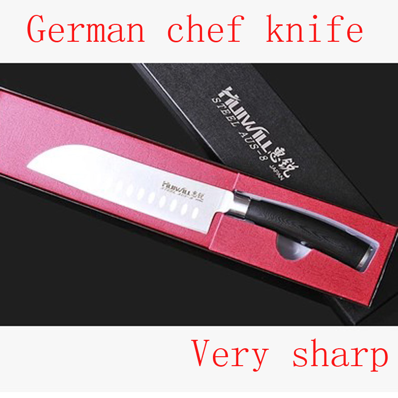 Free Shipping MIKALA Stainless Steel Japanese Style Kitchen font b Knife b font Chef Slicing font