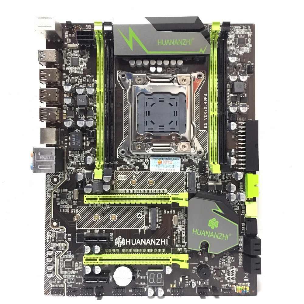 HUANANZHI X79 motherboard  golden V2.49 LGA2011 ATX USB3.0 SATA3 PCI-E NVME M.2 SSD support REG ECC memory and Xeon E5 processor