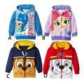2017 primavera e outono crianças casacos meninos e meninas dos desenhos animados casacos casuais jaqueta com capuz moda popular das crianças para a idade 12 M-6 T