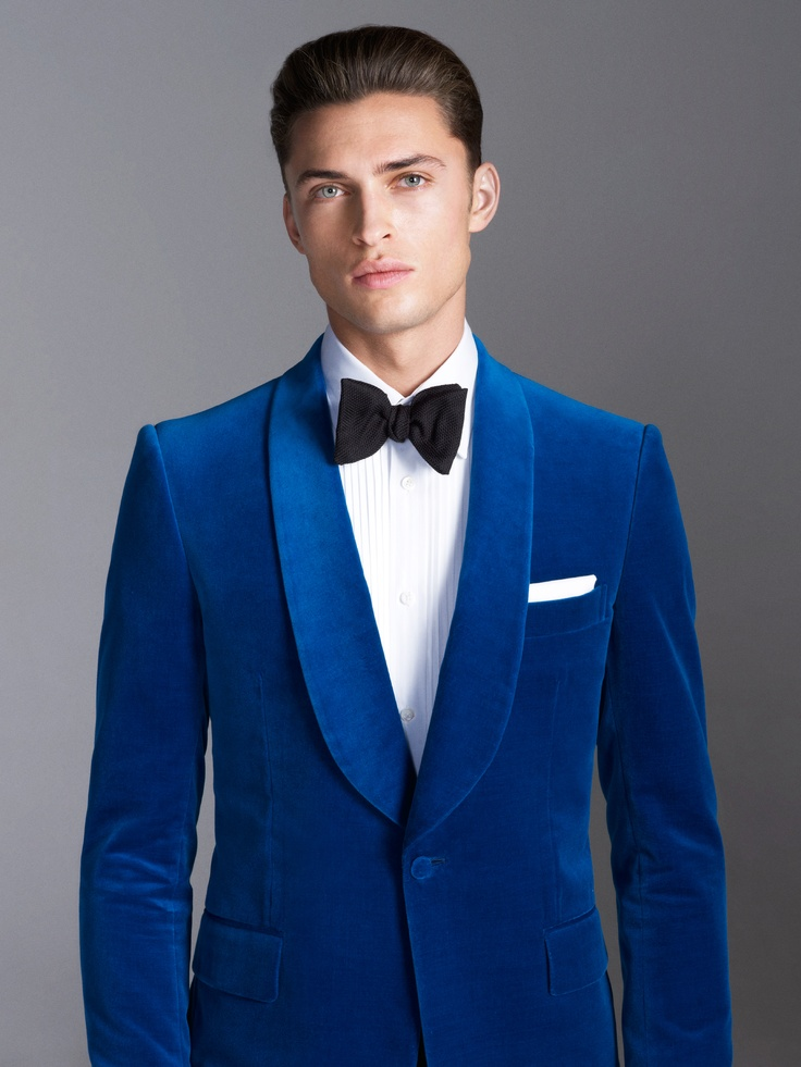 cbb137c7846 Custom Made Royal Blue Velvet Tuxedo Jacket Men Suit jacket Elegant Smoking  Dinner Jacket Slim Fit Wedding Suits For Men