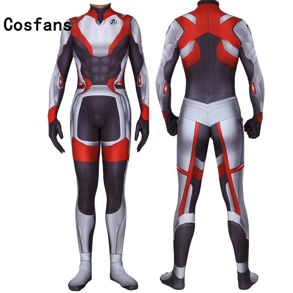 2019 Adult Kids Men Boys The Avengers 4 Endgame Quantum Realm Superhero Cosplay Costume Superhero Zentai Bodysuit Suit Jumpsuits