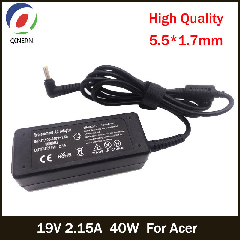 QINERN 19V 2.15A 40W 5.5*1.7mm AC Adapter Notebook Laptop Charger For Acer Aspire D270 D257 D255 Power Supply For Laptop Adapter