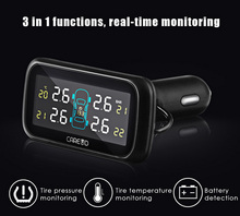 Car TPMS PSI BAR Diagnostic Tool Wide Angle Screen Real-time Monitoring U903 4 Internal Sensors Pressure Monitoring System