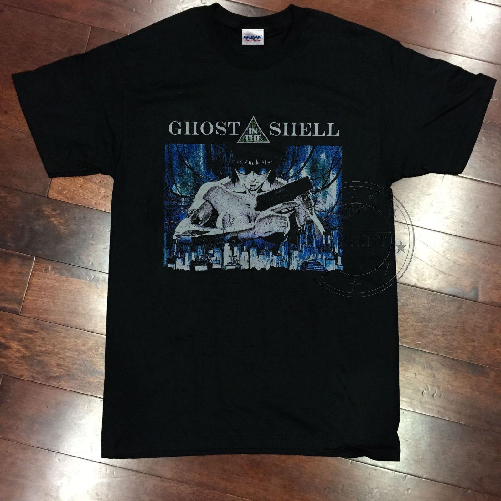 """nachdruck 1995 Ghost In The Shell Vtg 80 S Manga Anime T-shirt Sci-fi Großen Akira"" Günstige Verkauf 100% Baumwolle Top T"