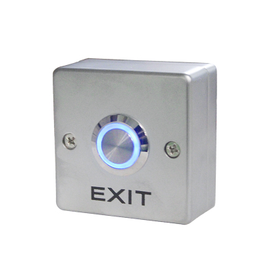 Stainless Steel LED Backlit Door Exit Release Push Button Home Switch Panel Part Of Access Control System