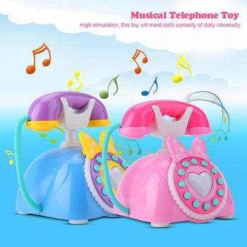 Kid Electric Simulation Plastic Telephone Toy Children Educational Gift Kids Music Phone Pretend Play Sound Learning Musical Toy