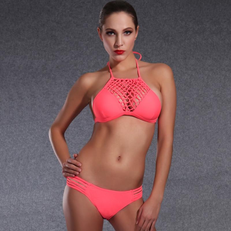 cda5683232bf YOUDIAN Sexy Young Girls Bikini 2017 Biquinis Low Waist Swimwear Women Bathing  Suit Pink Swimsuit Vintage Swim wear For Female-in Bikinis Set from Sports  ...