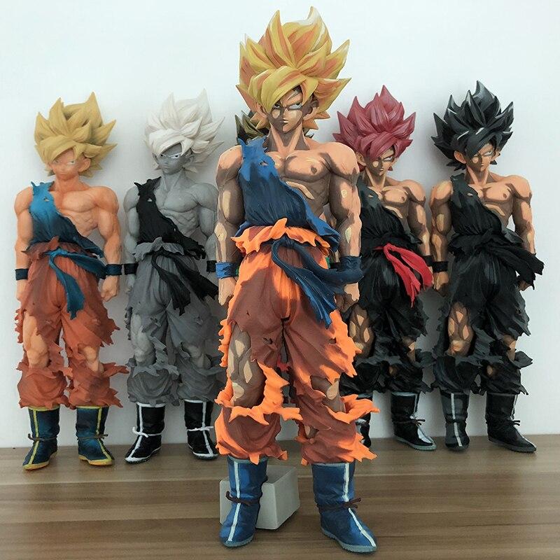 Figurine 6 styles Dragon Ball Z SMSP fils Goku Figurine Super Saiyan Kakarotto PVC Figurine modèle jouet 34cm