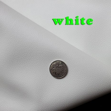 White Small Lychee Pu Leather Faux Leather Fabric Pu Artificial