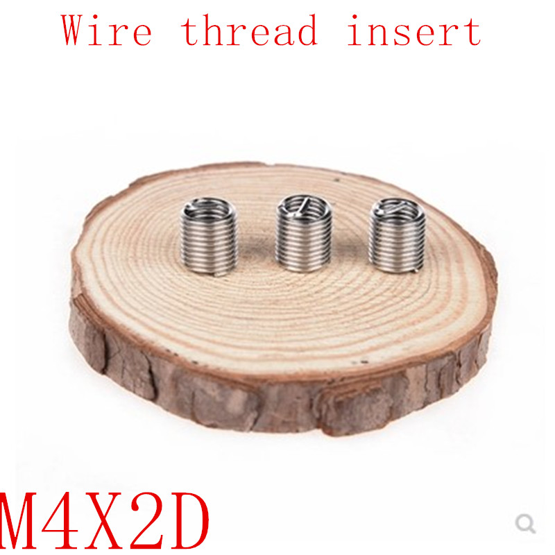 50pcs M4*0.7*2D Wire Thread Insert Stainless Steel 304 Wire Screw Sleeve, M4 Screw Bushing Helicoil Wire Thread Repair Inserts