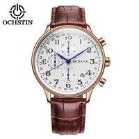 OCHSTIN Luxury Brand Watches Men Six Pin Leather Military Sport Quartz Watch Clock Man Fashion Casual