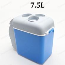 Многофункциональный ABS автомобильный мини-холодильник портативный 12 V 7.5L Авто Путешествия Холодильник домашний кулер Морозилка-подогреватель