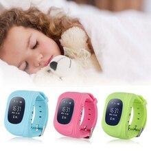 Хорошее Q50 gps умный малыш телефон часы q50 дети ребенок малыш Дети наручные GSM GPRS gps локатор трекер анти-потерянный smartwatch часы