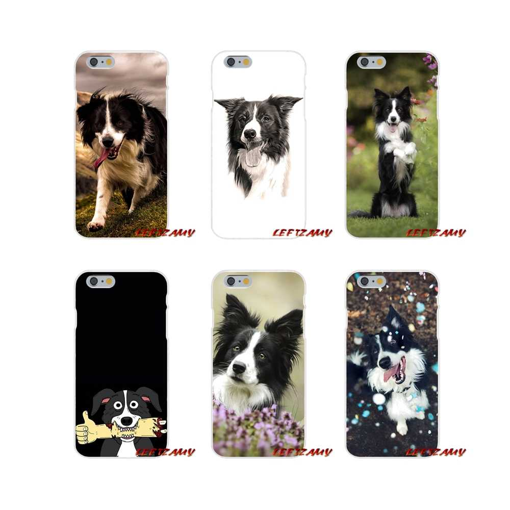 Voor Huawei P Smart Mate Y6 Pro P8 P9 P10 Nova P20 Lite Pro Mini 2017 Accessoires Cases Cover zwart wit Border Collie hond puppy