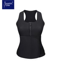Shaper Diva Hot Neoprene Sauna Body Shaper Sweat Slimming Tops Zipper Adjustable Waist Shaper Vest Waist