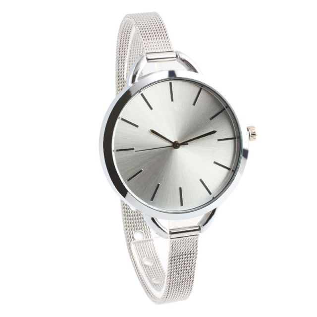 Fashion Alloy Metal Strap Ladies Quartz Casual Business Clock Wrist Watch Girl E